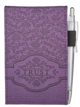 Trust, Purple Lux-Leather Notebook and Pen