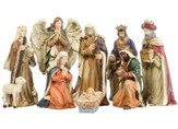 Traditional Nativity Figurines, Set of 8