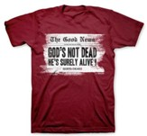 Headline, God's Not Dead Shirt, Red, Medium