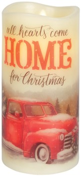 All Hearts Come Home for Christmas LED Candle