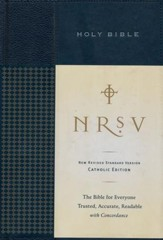 NRSV Standard Catholic Edition Bible, Anglicized, Hardcover, Navy Blue - Imperfectly Imprinted Bibles