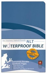 NLT Waterproof Bible New Testament with Psalms & Proverbs, Blue Wave - Imperfectly Imprinted Bibles