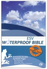 ESV Waterproof Bible, Blue Wave - Slightly Imperfect