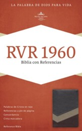 RVR 1960 Biblia con Referencias, marron y tostado y bronceado simil piel, RVR 1960 Reference Bible--soft leather-look, brown/tan/bronze