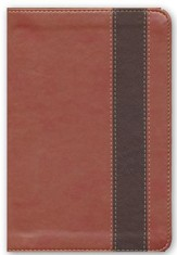 Biblia RVR 1960 Compacta Letra Gde. Ref., Simil Piel Cobre/Marron  (RVR 1960 LgPt Compact Ref. Bible, Leather Touch, Brown)