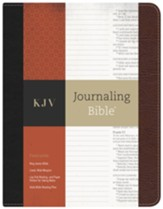 KJV Journaling Bible ®--bonded leather, black/brown - Slightly Imperfect