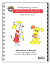 McRuffy Flip & Draw Modern Handwriting Letter Practice Sheets