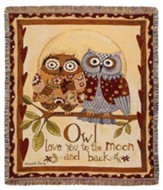 Owl Love You To the Moon and Back Throw