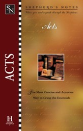 Shepherd's Notes on Acts - eBook