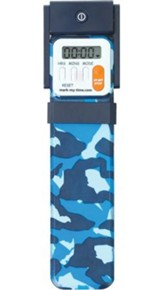 Bookmark Timer, Booklight, Blue Camo