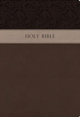 KJV Large Print Wide Margin Bible, Imitation Leather Brown