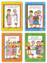 Church Kitchen Ladies, Cookin' It Up, Birthday Cards, Box of 12