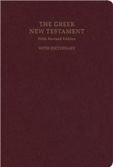 The Greek New Testament, Fifth Revised Edition (UBS5) with Concise Greek-English Dictionary [Hardcover]