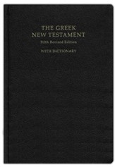 The Greek New Testament, Fifth Revised Edition (UBS5) with Concise Greek-English Dictionary [Imitation Leather]