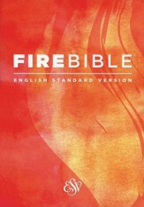 Fire Bible ESV version, softcover - Slightly Imperfect