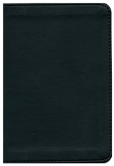 KJV New Testament with Psalms and Proverbs, Flexisoft  leather - black