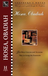Shepherd's Notes on Hosea/Obadiah - eBook