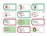 Christmas Gift Tags - Set of 48