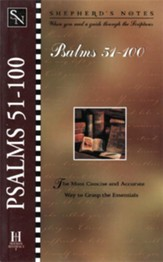 Shepherd's Notes on Psalms 51-100 - eBook