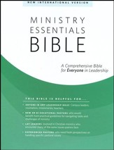 NIV Ministry Essentials Bible-Genuine leather Black - Thumb Indexed
