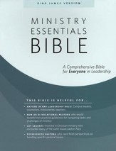 KJV Ministry Essentials Bible, Flexisoft, Black/Brown
