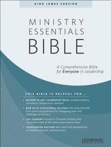 KJV Ministry Essentials Bible, Genuine Leather, Black,  Thumb Indexed