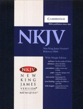 NKJV Wide Margin Reference, Hardcover blue