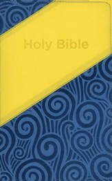 KJV Holy Bible for Kids, imitation leather yellow/blue