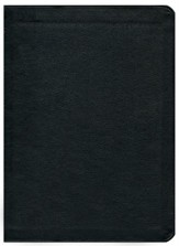 KJV Thompson Chain-Reference Bible, Black  Genuine Leather, Capri Grain - Imperfectly Imprinted Bibles