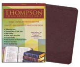 NASB Thompson Chain-Reference Bible, Burgundy  Genuine Leather, Capri Grain, Thumb Indexed (Original NAS)