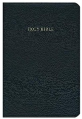 KJV Concord Reference Bible, Goatskin leather, black (black  letter)