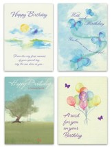 Watercolor Wishes, Birthday Cards, Box of 12
