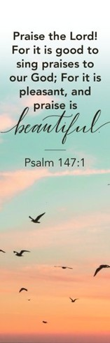 Praise to God Bookmarks (Psalm 147:1) Pack of 25