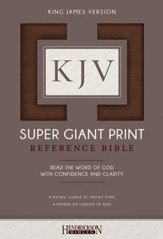 KJV Super Giant Print Reference Bible, flexisoft brown