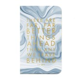Better Things Pocket Journal, Imitation Leather, Blue Marble