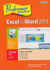 Professor Teaches Excel & Word 2013 on CD-ROM