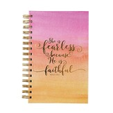 She is Fearless Spiral Bound Journal, Pink Watercolor
