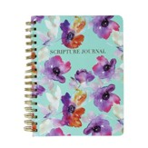 Spiral Bound Scripture Journal, Teal Floral