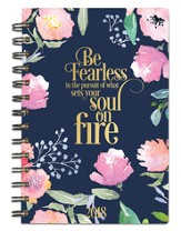 Be Fearless, 18 Month Planner, Navy Floral