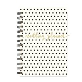 Spiral Bound Wedding Planner, Polka Dot