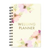 Spiral Bound Wedding Planner, Pink Floral