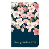 Best Grandma Ever Journal, Navy with Floral