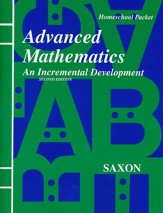 Saxon Advanced Math, Answer Key Booklet & Test Forms