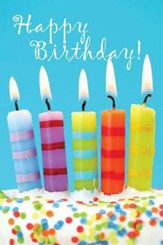 Child's Birthday Cake Postcard (Postcard of 25): 5 Birthday Candles