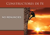 No Renuncies, Constructores De Fe, Tarjetas  (Don't Quit, Faithbuilders, Cards)