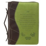 Faith, Hebrews 11:1,6 Bible Cover, Green, Medium, Spanish