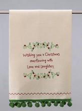 Christmas Kitchen Towel, Wishing you a Christmas ...