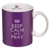 Keep Calm and Pray Mug, Purple
