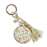 He Restores My Soul Keychain with Tassel