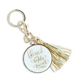 Blessed and Highly Favored Keychain with Tassel